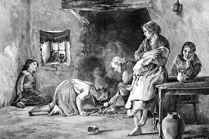 grabado sobre la hambruna en Europa - La brutal patata y sus consecuencias