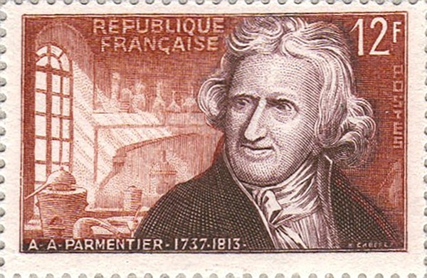 Sello de la república francesa de Antoine Augustin de Parmentier -La brutal patata y sus consecuencias
