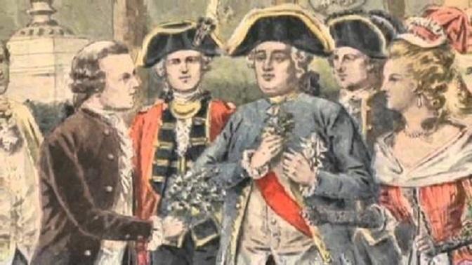 Antoine de Parmentier junto a Luis XVI y María Antonieta - La brutal patata y sus consecuencias