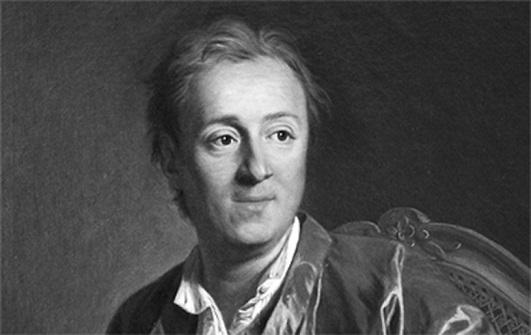 retrato de Denis Diderot - La brutal patata y sus consecuencias
